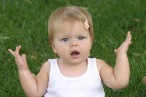 Baby met vragen: wat is denken dan?