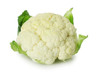 cauliflower on the white background