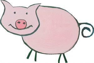 Kunnen varkens kunst maken?