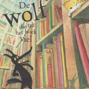 Cover van De wolf die uit het boek viel