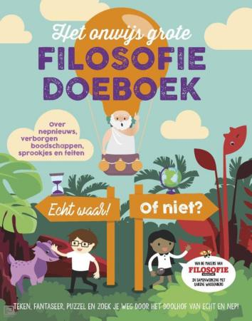 Cover van Het Onwijs Grote Filosofie Doeboek 2020
